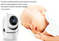 1080P HD WiFi Baby Monitor With Two Way Audio Night Vision Camera