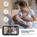Wireless Video Color Baby Monitor Wifi Nanny Security Camera Night Vision Temperature Monitoring Feeding Time Reminder