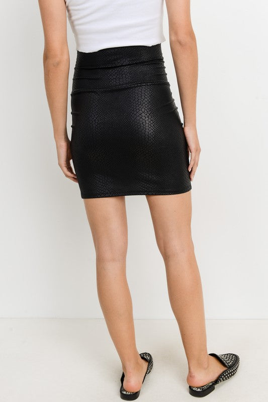 Stella Faux Leather Snake Skin Skirt