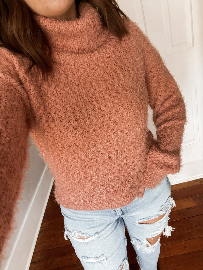 Popcorn Turtle Neck Sweater
