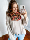 Stay A While Infinity Scarf: Orange