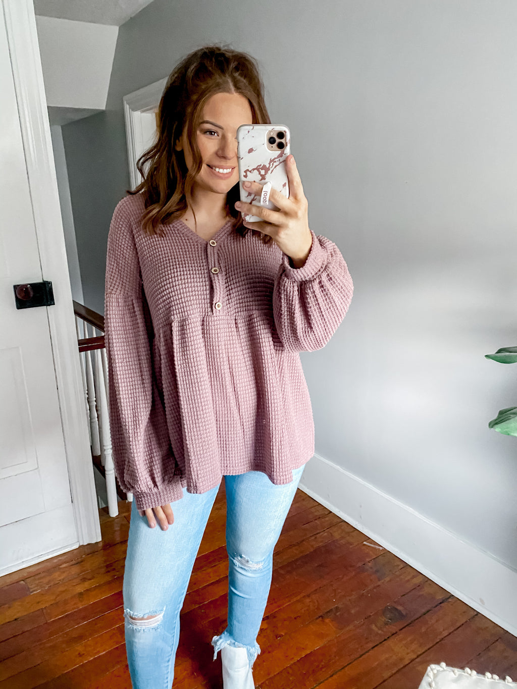 Dreamy Soft Knit Top: Mauve