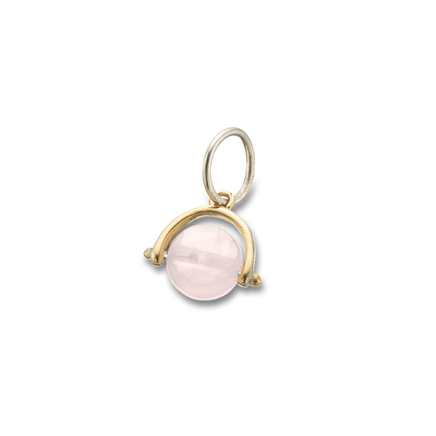 Palas -  Rose Quartz Love Spinner Charm