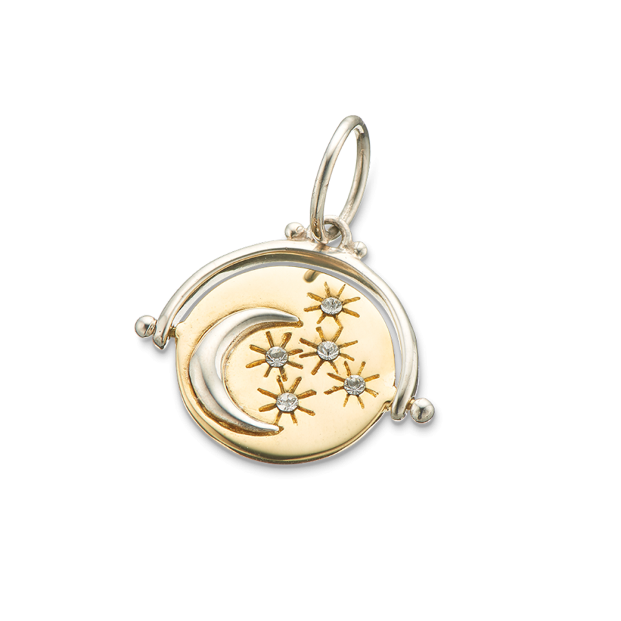 Palas - Moon Spinner Charm