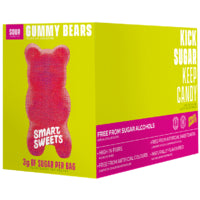 SmartSweets Gummy Bears Sour 12 x 50g