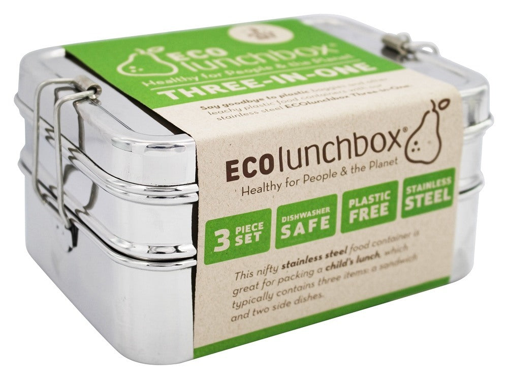 Eco-Lunch 3 in 1 Rectangular Set