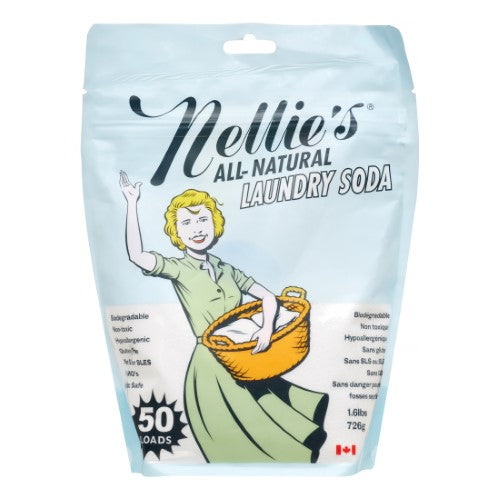 Nellie's Laundry Soda 50 load bag, 0.6kg