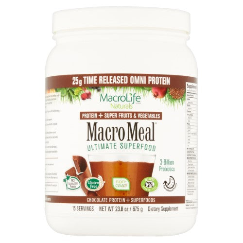 MacroLife Naturals MacroMeal Omni Chocolate 15 serving 675g