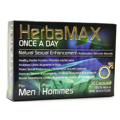 HerbaMax Mens Once A Day 30 pk