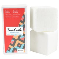 Duckish Natural Skin Care Bath Bombs (Coco Rose) 2 x 250g