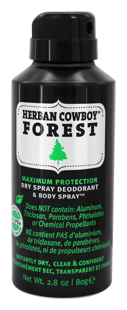 Herban Cowboy Dry Deodorant & Body Spray Forest 80G
