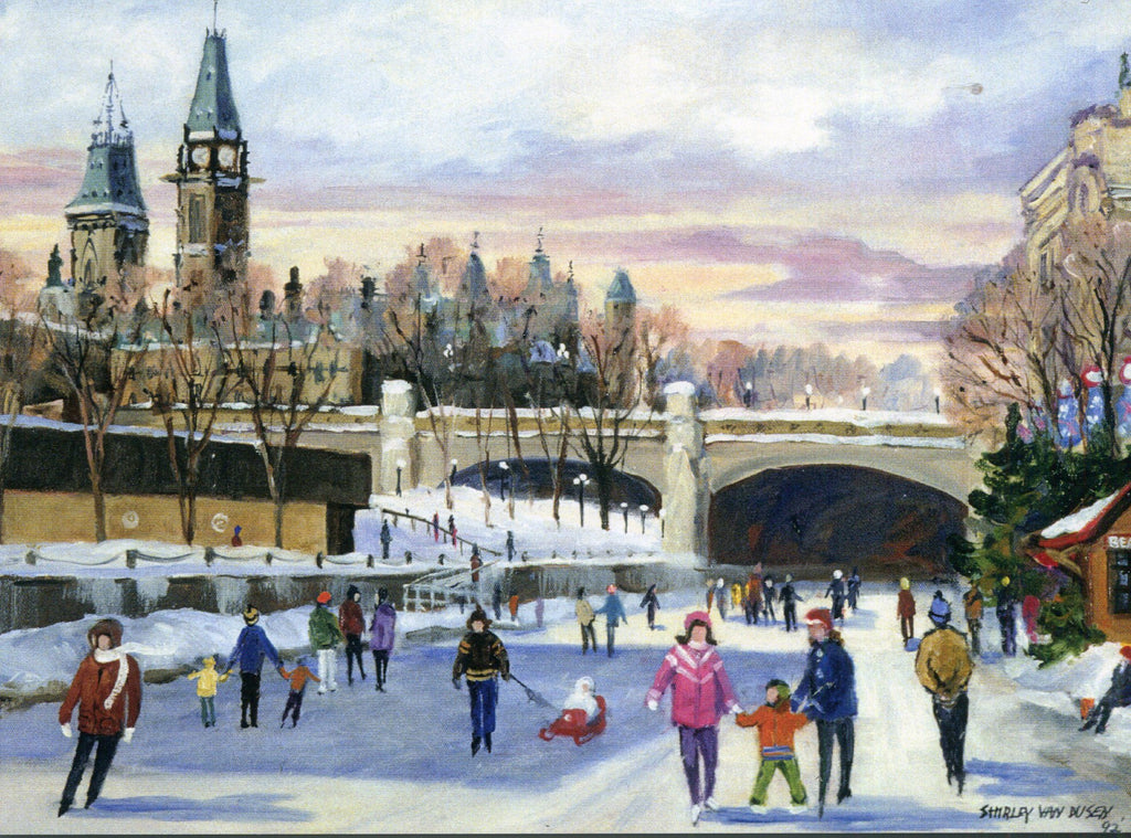 Skaters on the Rideau Canal / Patineurs sur le canal Rideau