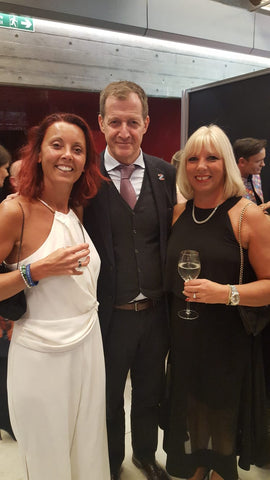 Mind Media Awards November 2018 Jane, me and the one and only Alistair Campbell MP