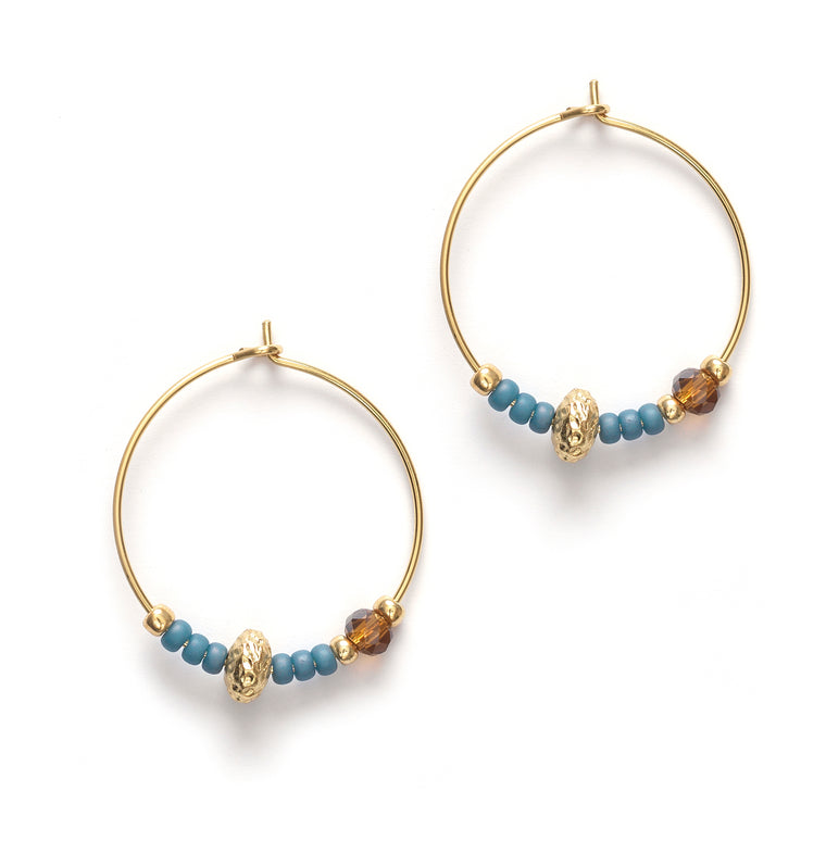 Anni Lu - Wave chaser hoops - blue
