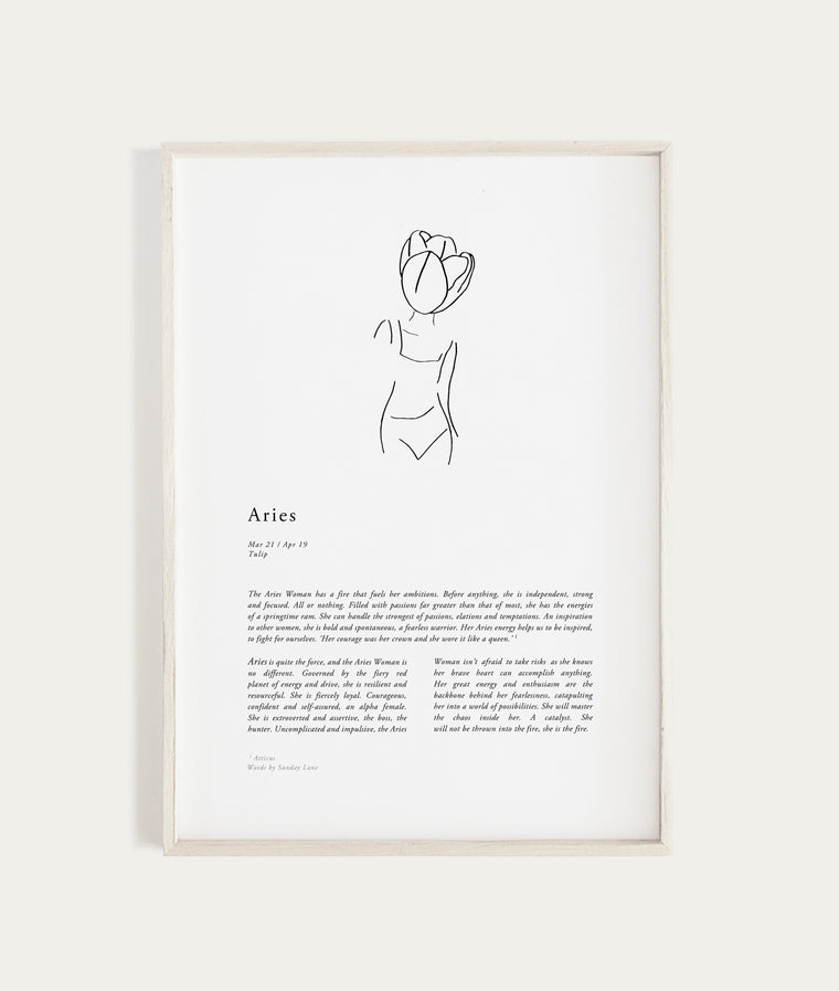 SUNDAY LANE - Zodiac Woman - Aries