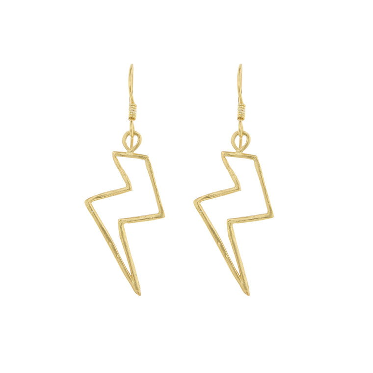 Cleopatra's Bling - Lightning Bolt Earrings