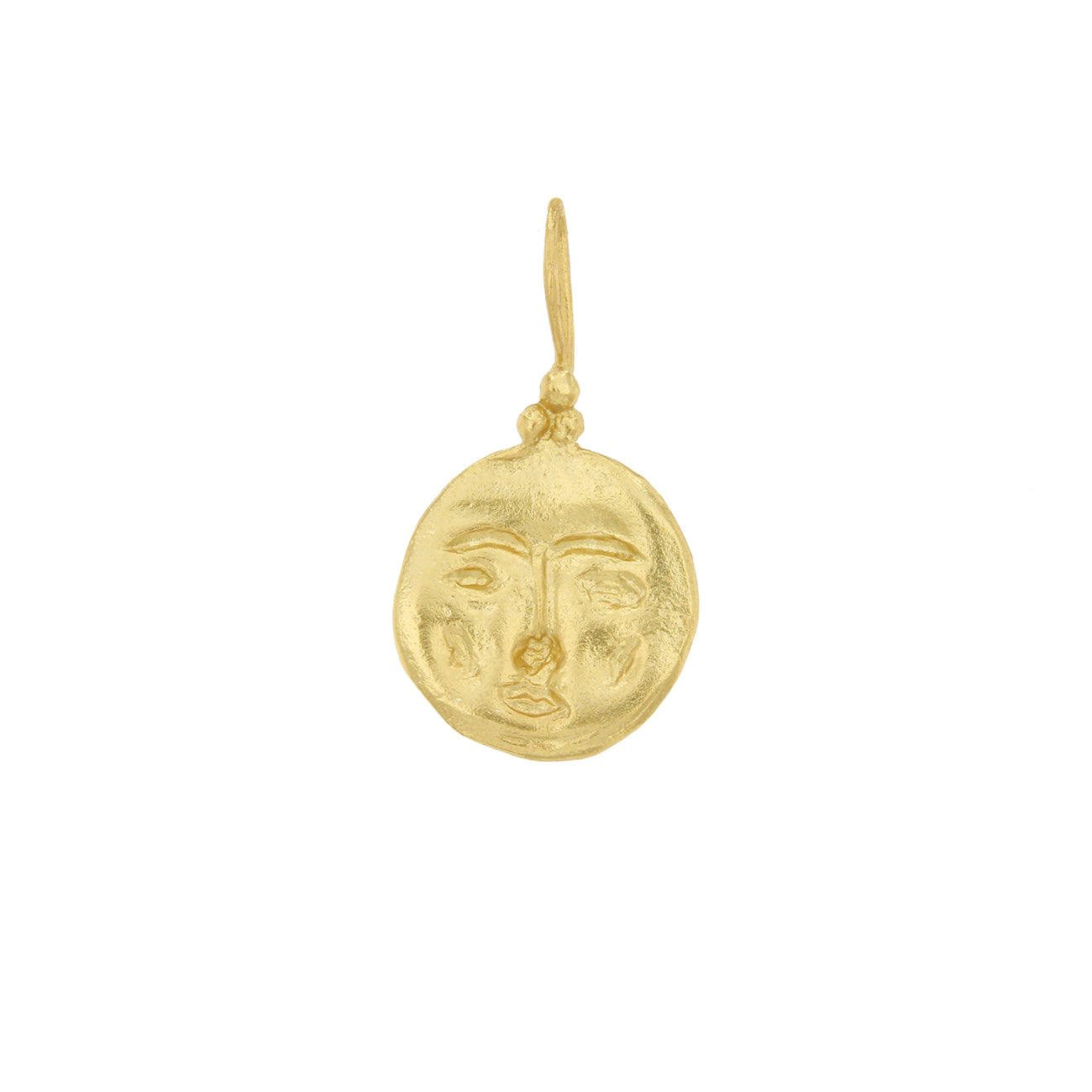 Cleopatras bling moon face pendant necklace the slow mode cleopatras bling moon face pendant necklace mozeypictures Choice Image