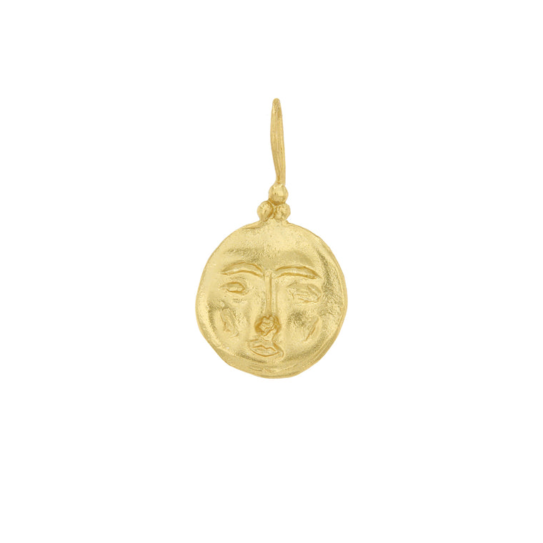 Cleopatra's Bling - Moon Face Pendant Necklace*