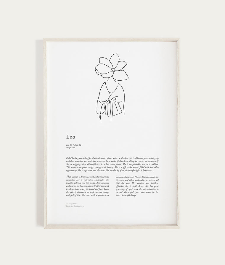 SUNDAY LANE - Zodiac Woman - Leo