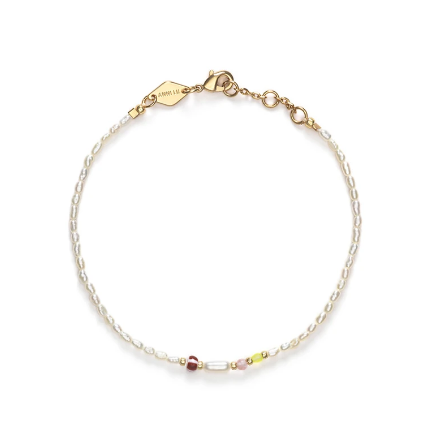 Anni Lu - Rice + Shine bracelet - white smoke