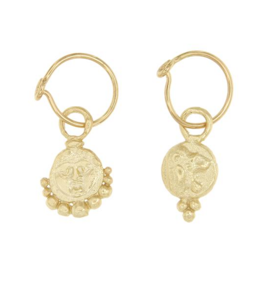 Cleopatra's Bling - Lion Hoop Earrings