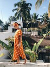 Bundu Textiles - Kaftan deep orange