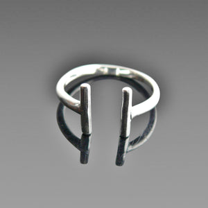 Simple Adjustable Silver Ring ***FREE DELIVERY***