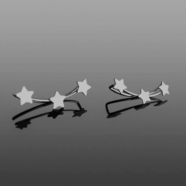 Sterling Silver multi functional star earrings/ ear cuff ***FREE DELIVERY***