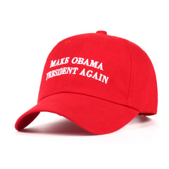 Make Obama President Again Red Embroidered Dad Hat