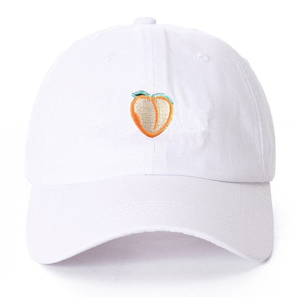 Peach Fruit Embroidered Dad Hat