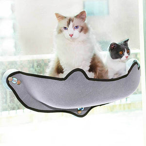 Window mounted cat hammocks