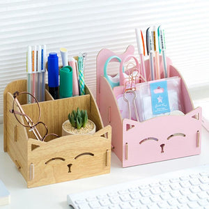 Cat-shaped storage organizer