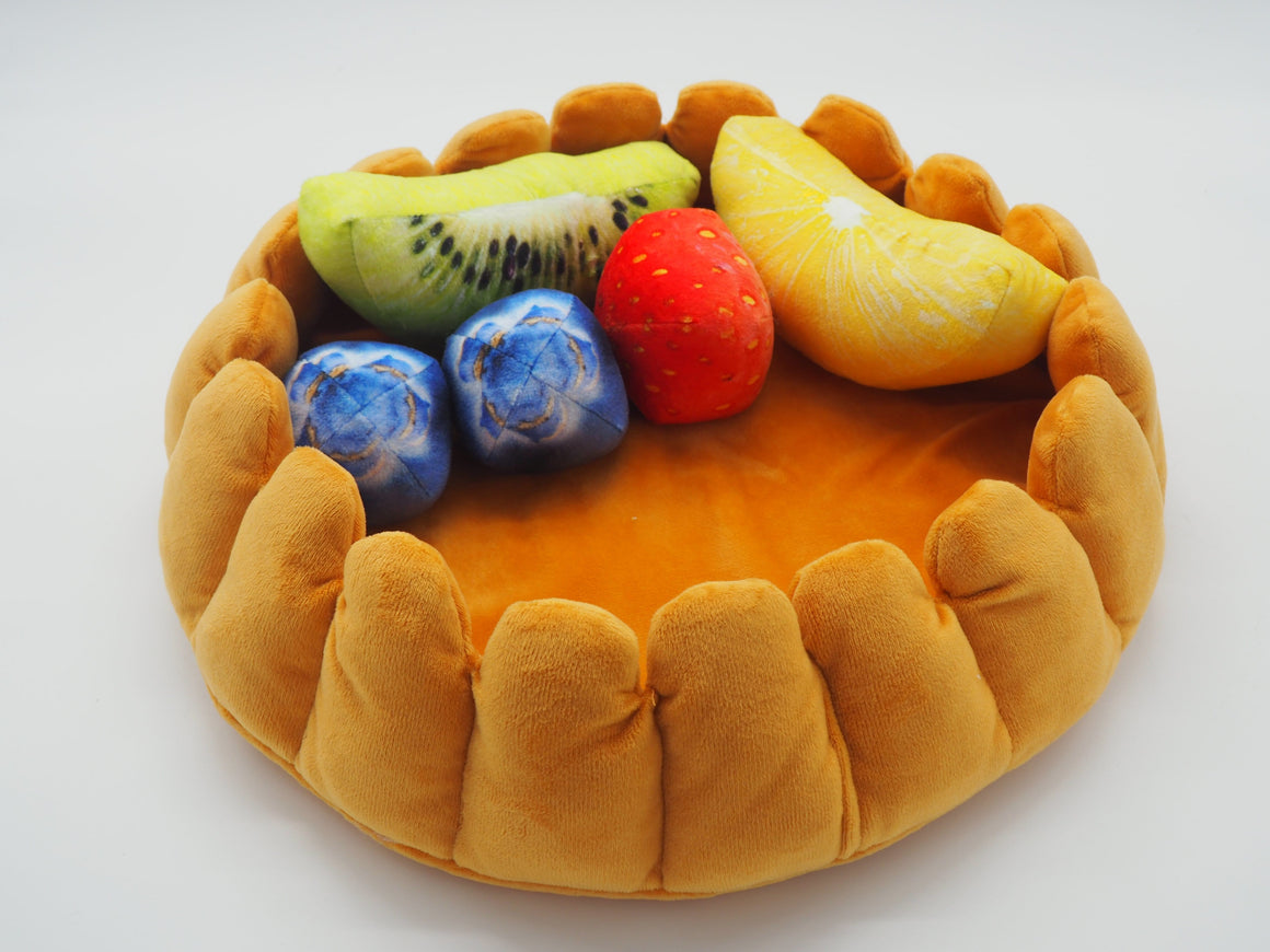 Fruit Tart Cat Bed from above