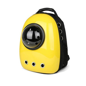 Yellow Capsule Cat Backpack Carrier