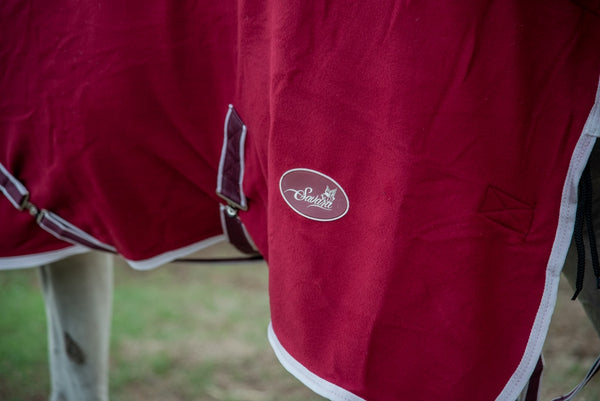 ST-CR/002 Maroon Cooler Fleece Rug