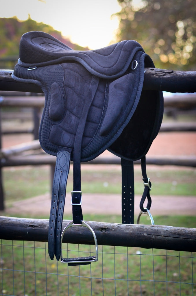 Black Synthetic Treeless Saddle