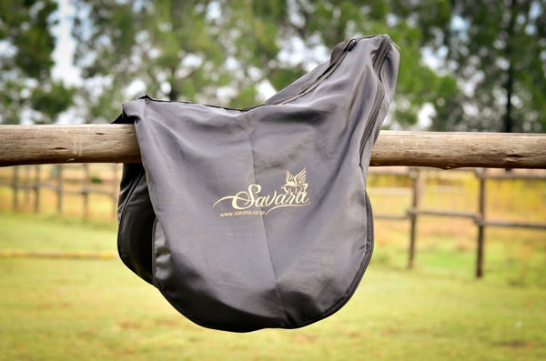 Black Savara Branded Saddle Bag