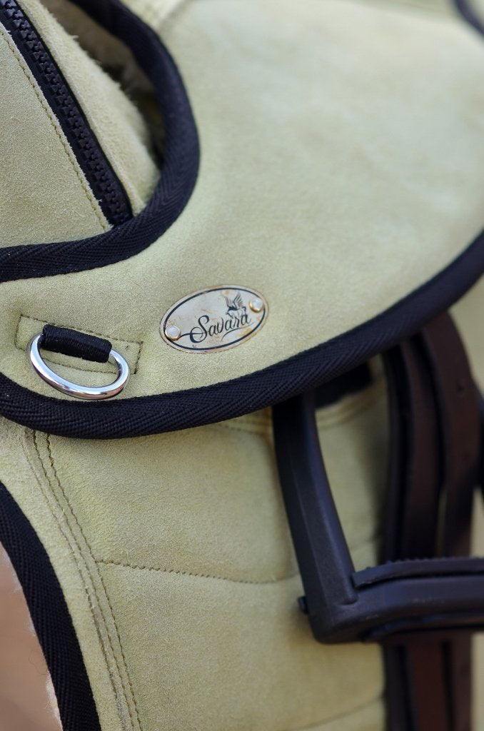 ST-SD/017 All Green Suede Leather Endurance Treeless Saddle