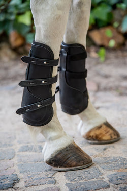 horse boots on horse