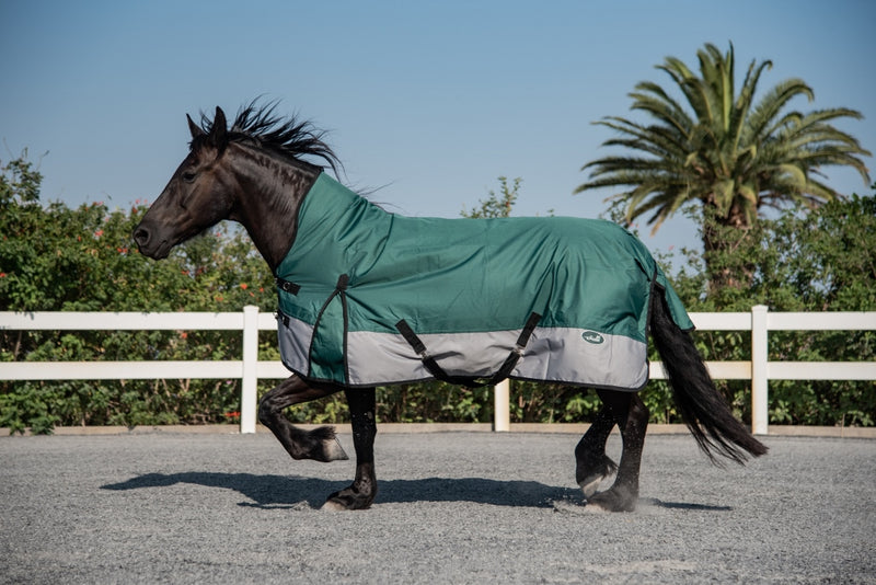 ST-RR/002 Green & Grey Rain Rug with Neck Piece