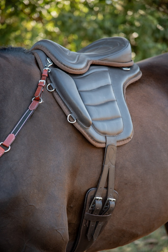 ST-SD/009 Brown Leather Treeless Saddle