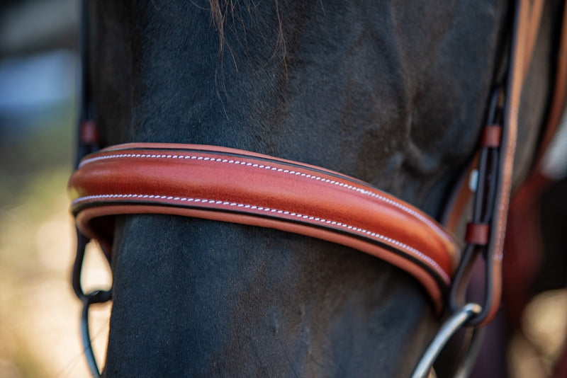 ST-BR/032 Tan Leather Bridle with Diamantes