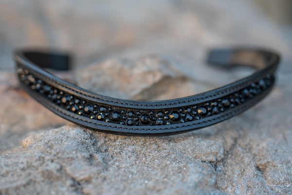 ST-BBD/008 Black Leather Browband