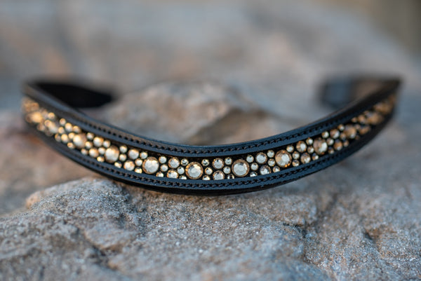 ST-BBD/001 Black Leather Browband
