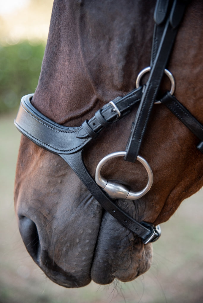 ST-BR/019 Black Leather Anatomical Bridle