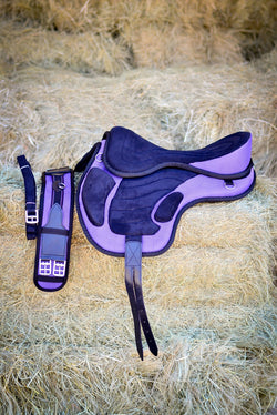 ST-SD/006 Purple Synthetic Treeless Saddle