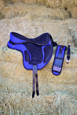ST-SD/008 Blue Synthetic Treeless Saddle