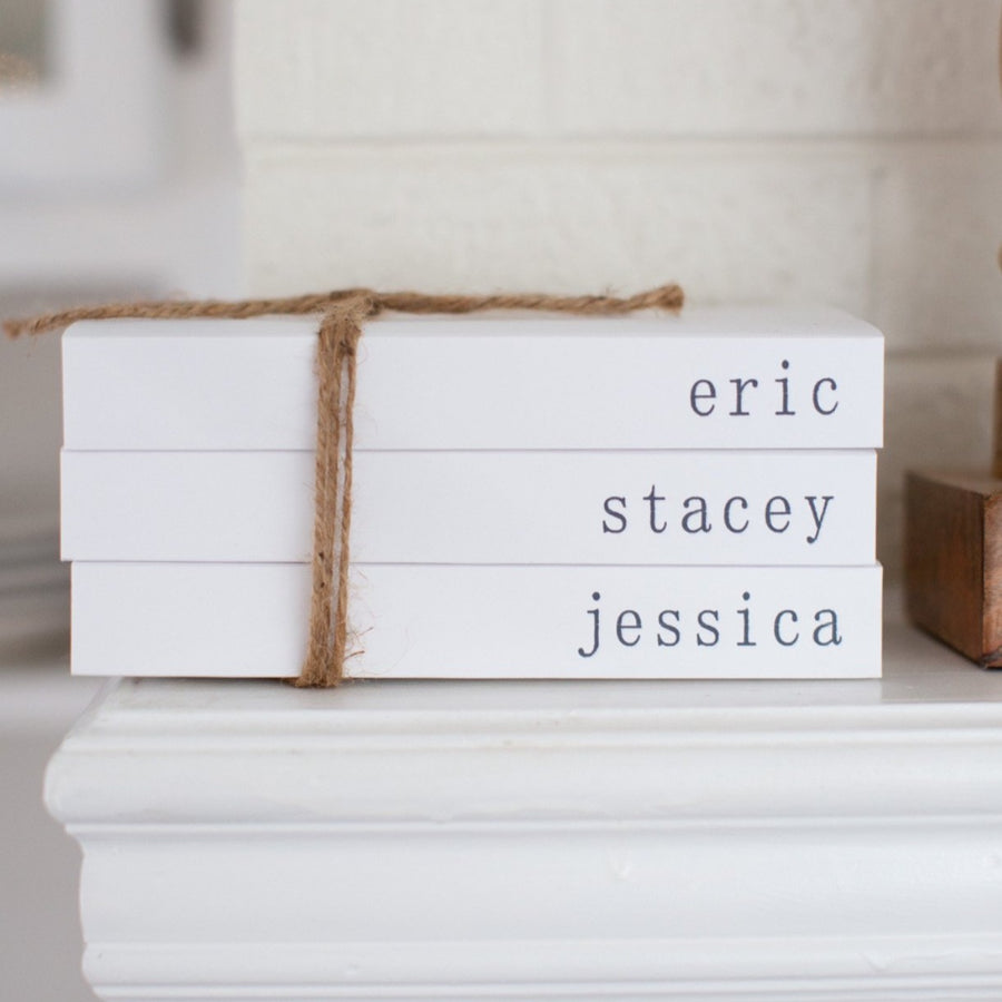 modern white cover | stamped books | CUSTOM