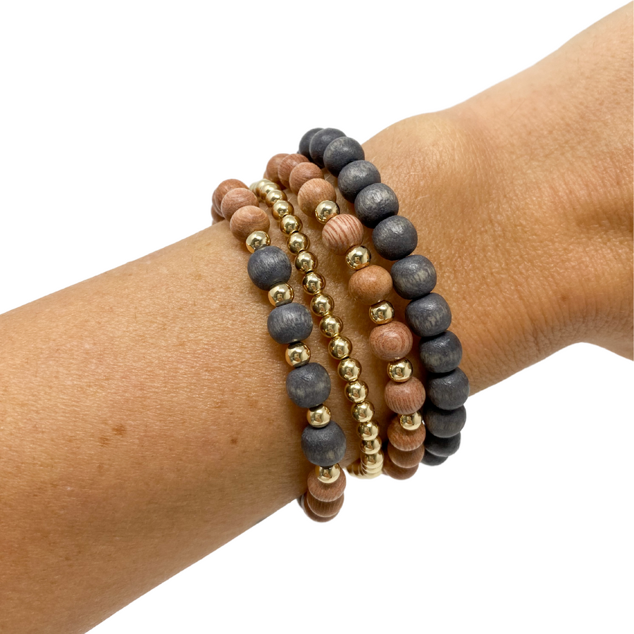 delicate | the sienna | charcoal grey | rosewood stack