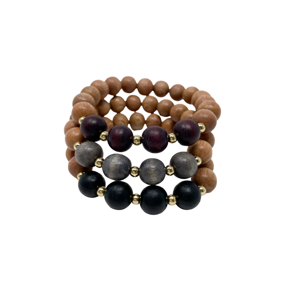 the reese | winter plum, charcoal grey, black | rosewood stack